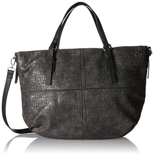 Gerry Weber Edges Handbag Lhz - Borsa Donna, Grau (Dark Grey), 8x28x36 cm (B x H T)