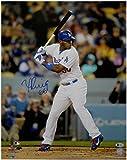 Yasiel Puig Hand Signed Autograph Auto 16x20 Photo LA Dodgers At Bat Beckett COA