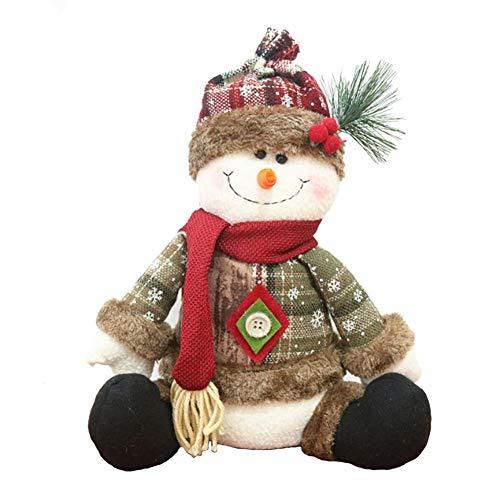 Yunt Christmas Decor Dolls, Christmas Standing Sitting Santa Claus Snowman Elk Dolls ()
