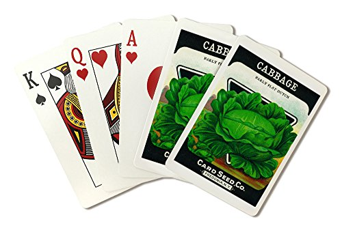 Cabbage Seed Packet (Playing Card Deck - 52 Card Poker Size with - Packet Seed Cabbage