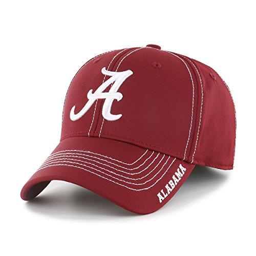 Alabama Crimson Tide Baseball - OTS NCAA Alabama Crimson Tide Adult Start Line Center Stretch Fit Hat, Medium/Large, Razor Red