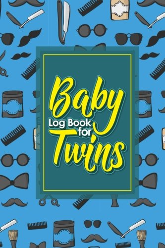 Baby Log Book for Twins: Baby Activity Tracker, Baby Food Tracker, Baby Nursing Tracker, Babys Daily Logbook, Cute Barbershop Cover, 6 x 9 (Volume 86)