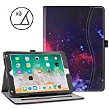 VORI iPad 9.7 Case (2018 6th Generation 2017 5th Gen iPad Air 2 iPad Air) - Soft Leather Smart Cover Folio Multi-Angle Viewing Case with w Pocket - Auto Wake Sleep for New Apple iPad 9.7 inch - Nebula
