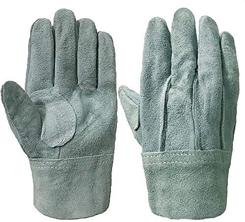 ガーデニング用手袋 革の溶接手袋短い厚手の溶接工装具屋外の園芸用手袋多目的 園芸 採掘 植栽 枝切り 防護手袋