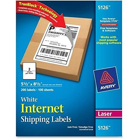amazon com 5126 avery shipping label 5 50 width x 8 50 length