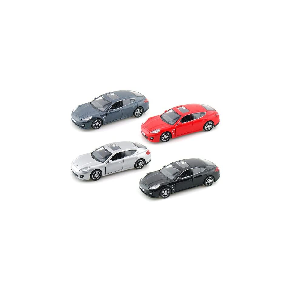 Set of 4   Porsche Panamera Turbo 1/36