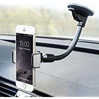Cell Phone Car Mount, X-AUTO Universal Windshield Cell Phone Holder Cradle with 360 Degree Rotation for iPhone 7 7 Plus SE 6s 6 Plus 6 5s 5 4s 4 Samsung Galaxy S6 S5 S4 LG Nexus Sony Nokia and More
