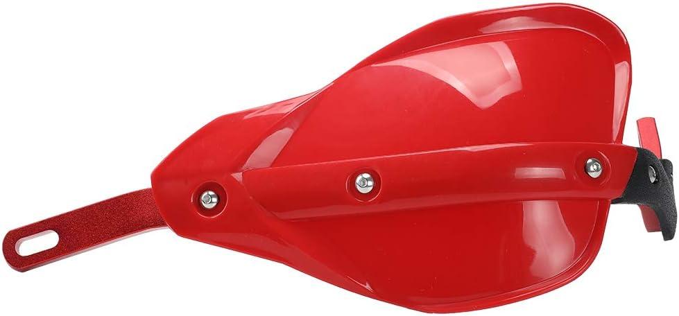 Red Hand Guards Dirt Bike Handguards Upgrade Red Aluminum Brush Bar Universal Motorcycle Hand Guard Bark Busters for ATV Quad CR CRF YZF KXF RMZ BSE Motorcross Bark Buster Pit Bike Racing KAYO