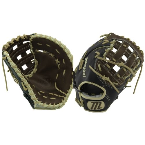 - Marucci MFGHG125FB-KR-RG Honor The Game Series Baseball Fielding Gloves, Black/Gumbo, 12.5