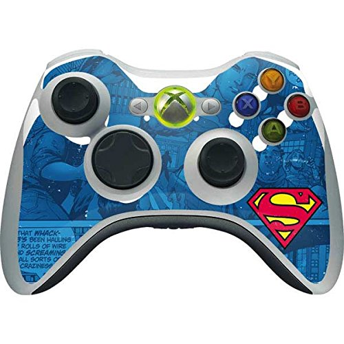 DC Comics Superman Xbox 360 Wireless Controller Skin - Superman Logo Vinyl Decal Skin For Your Xbox 360 Wireless ()