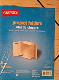 Staples Project Folders - Elastic Closure - 5 folders, lettersize