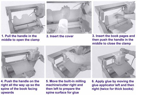 Durable Glue Binding Wireless Hot Thermal Book Machine Binder With 1Pound Glue Pellets