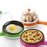 INOVERA (LABEL) Electric Egg Boiler and Steamer Cum Omelette Frying Pan(Assorted)