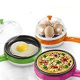 Inovera Multi functional Egg Boiler Steamer Omelette Frying Pan, Assorted Colour