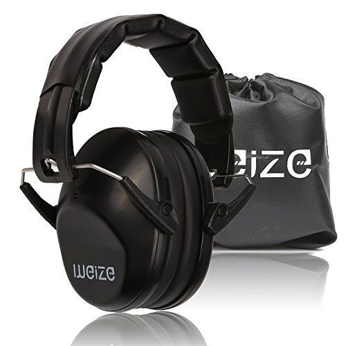 Weize Safety Shooting Ear Protection Tactical Sport Earmuffs Folding-Padded Ear Protection for Shooting Range Worksite Gun Range Hunting Drilling (Certified S3.19 & EN352)