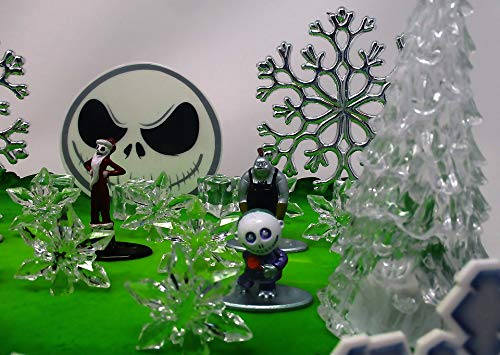 Nightmare Before Christmas Winter Wonderland Themed Birthday Cake Topper Set with Jack Skellington and Decorative Themed Accessories by Cake Topper (Image #4)