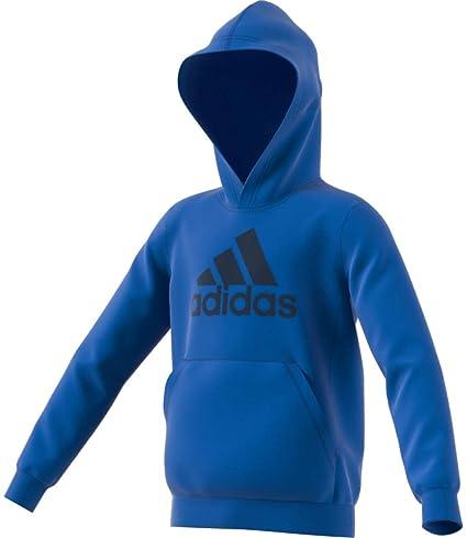 adidas YB MH BOS PO Sudadera, Niños, Azul/Maruni, 110 (4