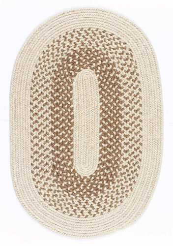 Colonial Mills Jackson jk90 Braided Rug Oatmeal 5x8 Oval - Colonial Mills Jackson Oatmeal