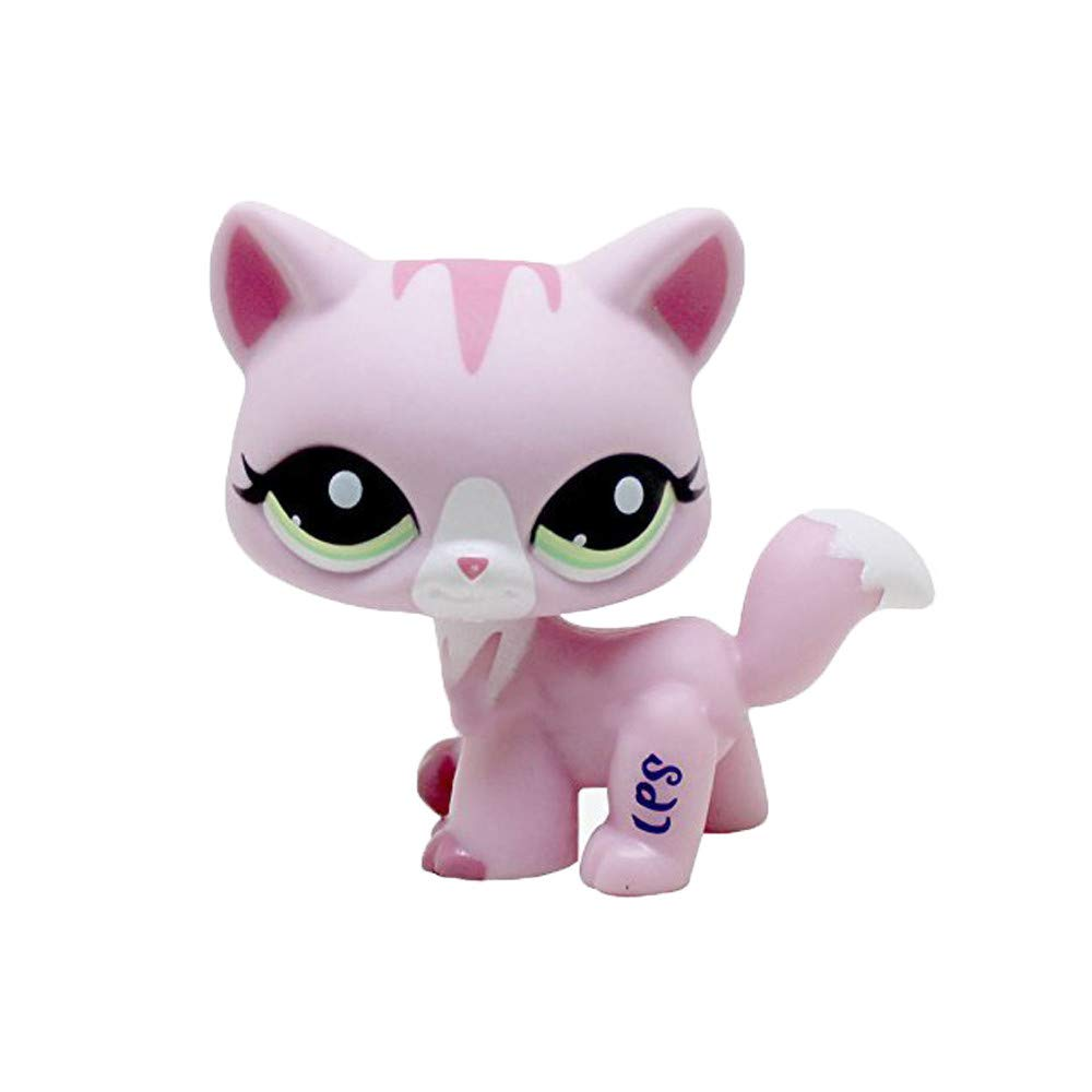 LPS Rare Cat Kitty Pink Animal Figure Girl Gift Toy #1788 Puppies Small Kids Toy Box Storage Personalised Basket crossed3_Pet toy store