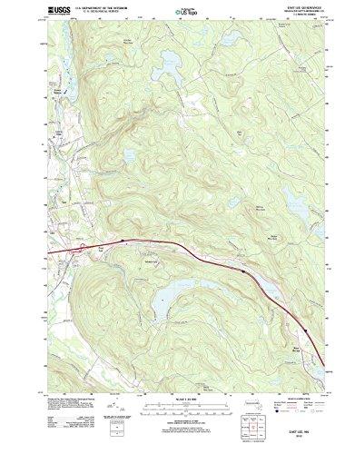 Massachusetts Maps | 2012 East Lee, MA USGS Historical Topographic Map |Fine Art Cartography Reproduction - Map Massachusetts Lee