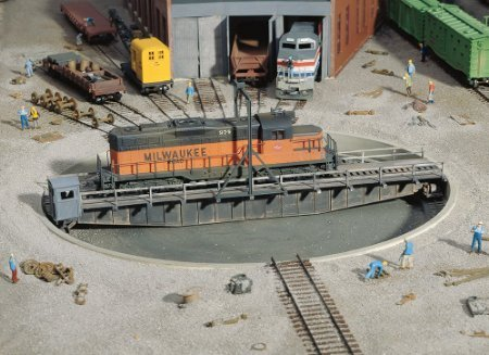 Walthers Cornerstone Series174 HO Scale 90' Turntable Kit Pit Diameter: 13-3/16 33cm Bridge Holds Loco Up To 12-3/8 30.9cm by Walthers