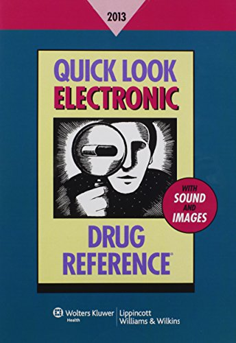 Quick Look Electronic Drug Reference 2013 by Brand: LWW