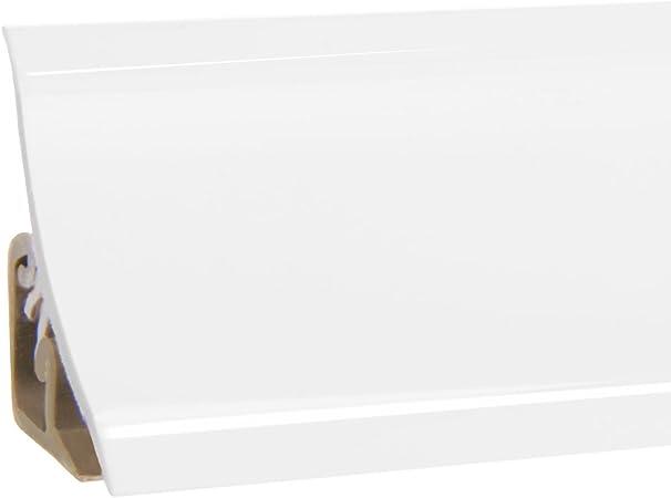 HOLZBRINK Finition d/'Aluminimum Plinthe de Comptoir de Cuisine d/'Aluminimum Bande de 23x23 mm 150 cm
