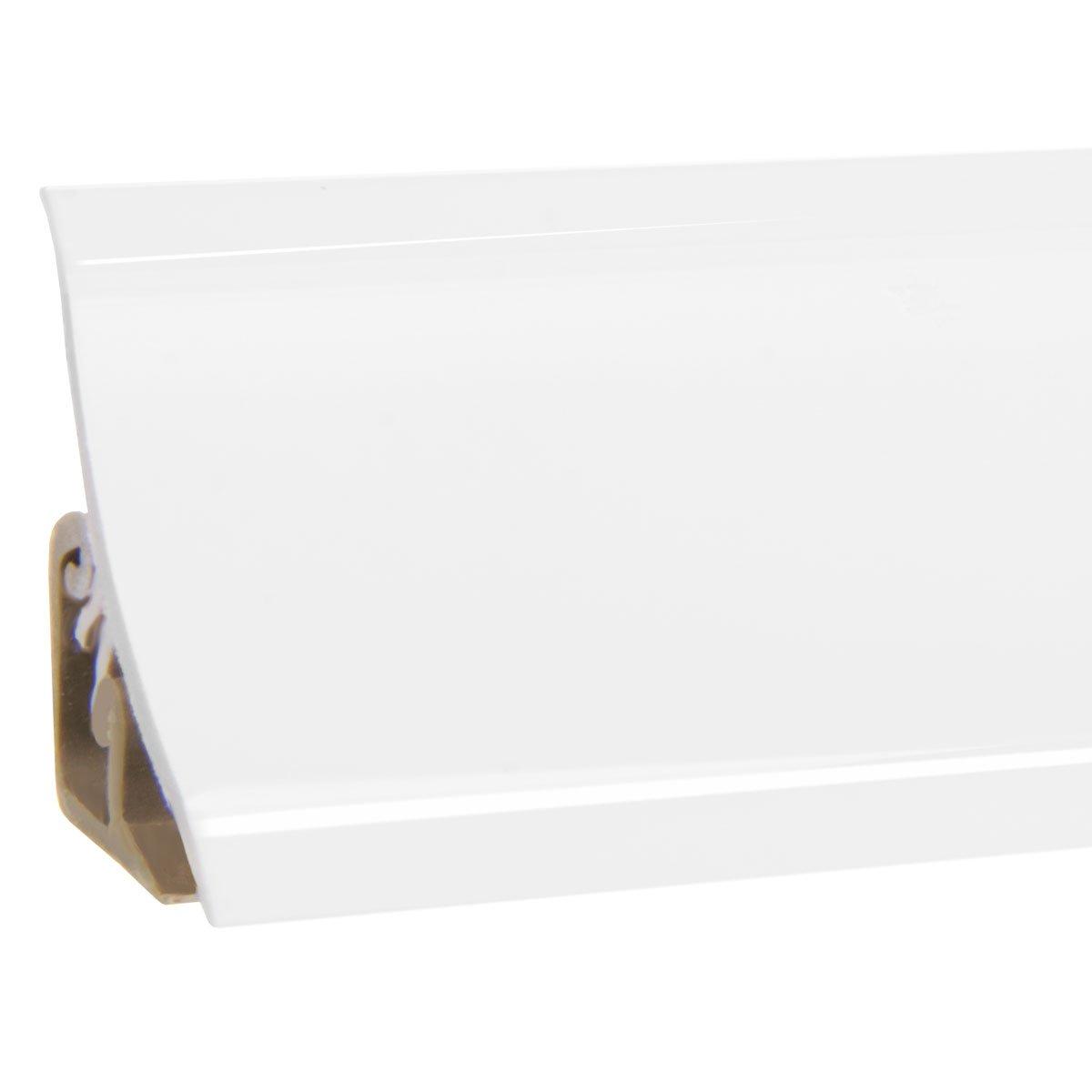 HOLZBRINK Au/ßenecke passend zum Dekor Ihrer Abschlussleisten Alu Silber Au/ßenkante PVC K/üchenabschlussleiste 23x23 mm
