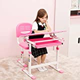 Adjustable Children's Desk Chair Set Kids Study Table Child Study Desk Best Massage
