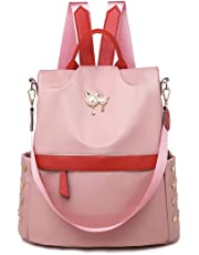 Leviro Women Backpack Waterproof Nylon Anti-theft Rucksack School Shoulder Bag Camo Handbag