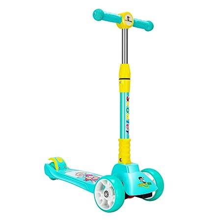 Scooter, patinete de pedal de rueda de flash mudo de PU ...