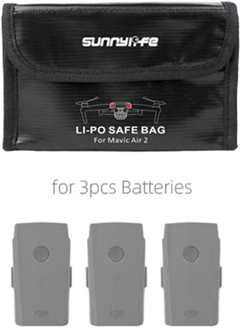 for 2 Batteries Battery Safe Bag Case for DJI Mavic Air 2 Explosion Fire Proof Lipo Battery Safe Protective Storage Bag