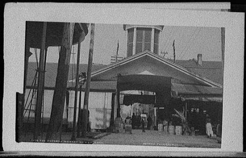 Photo: Poydras Market,streets,roads,New Orleans,Louisiana,LA,Detroit Publishing - Poydras New Orleans