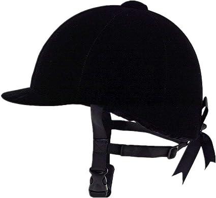 60 cm Casque d/équitation en velours noir confortable respirant 56 cm 58 cm adulte femme et homme