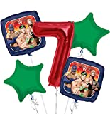 WWE Balloon Bouquet 7th Birthday 5 pcs - Party Supplies