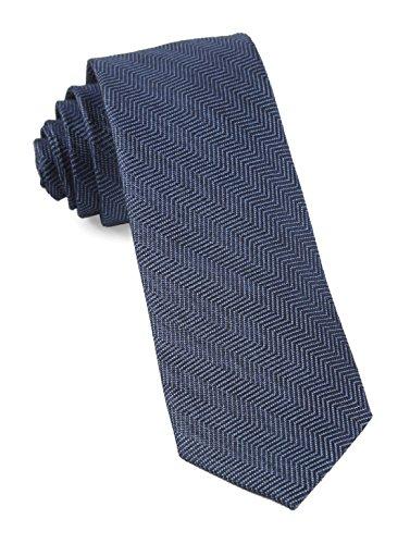 The Tie Bar Wool Blend Verge Herringbone Navy 2 Inch Tie