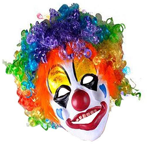 HKJYCstore HKJYC Party Clown Mask Foam Latex With Hair ()