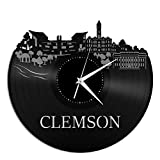 VinylShopUS – Clemson Canada City Skyline Vinyl Wall Clock Cityscape Ideal for Room Decorative | Home Decoration Review