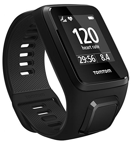 TomTom Spark 3 Cardio, GPS Fitness Watch + Heart Rate Monitor (Black, Small) by TomTom