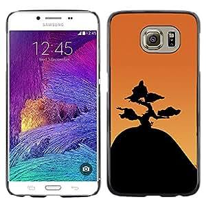 A-type Arte & diseño plástico duro Fundas Cover Cubre Hard Case Cover para Samsung Galaxy S6 (Montaña Bonsai)