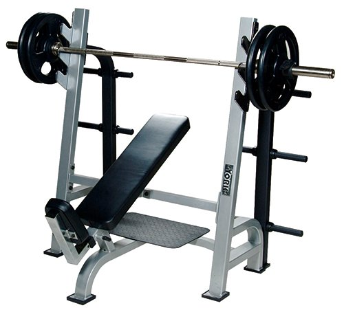 York Barbell 54038 Olympic Incline Bench with Gun Racks44; White by York Barbell