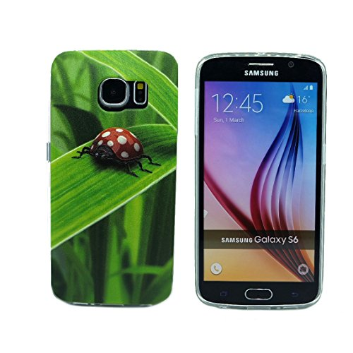 """""""Red Beetle"""" Lovely Picture Soft Shell Case for Samsung Galaxy S6 Edge (YHFPU-S6EG-H04)"""
