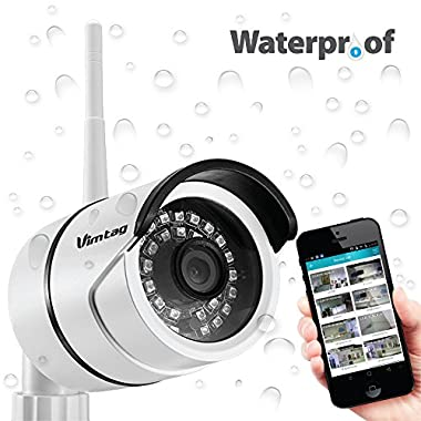 Vimtag B-1 Outdoor Wi-Fi, Video Monitoring, Surveillance Security Camera (White)