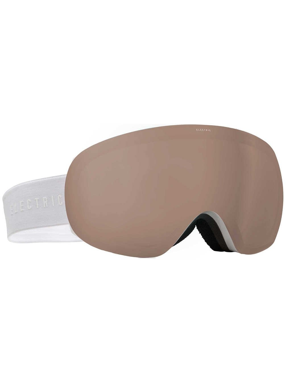 Electric Visual Eg3.5 Gloss White Unisex Spherical Goggles - Bronze / One Size Fits All