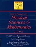 Peterson's Guide to Graduate Programs in the Physical Sciences and Mathematics, 1993 9781560791843