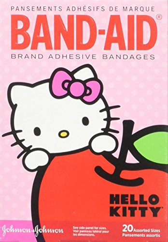 Band-Aid Brand Adhesive Bandages for Minor Cuts, Hello Kitty Characters, Assorted Sizes, 20 ct -