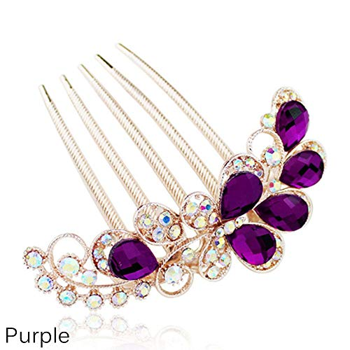 Women Luxury Rhinestone Hair Combs Crystal Hair Clips Rhinestone Barrette Hair Pin Bridal Hair Accessories ()