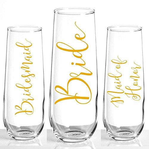 Bridesmaid Champagne Flutes - Bridesmaid Gift - Bridesmaid Proposal Gift - Champagne Flute