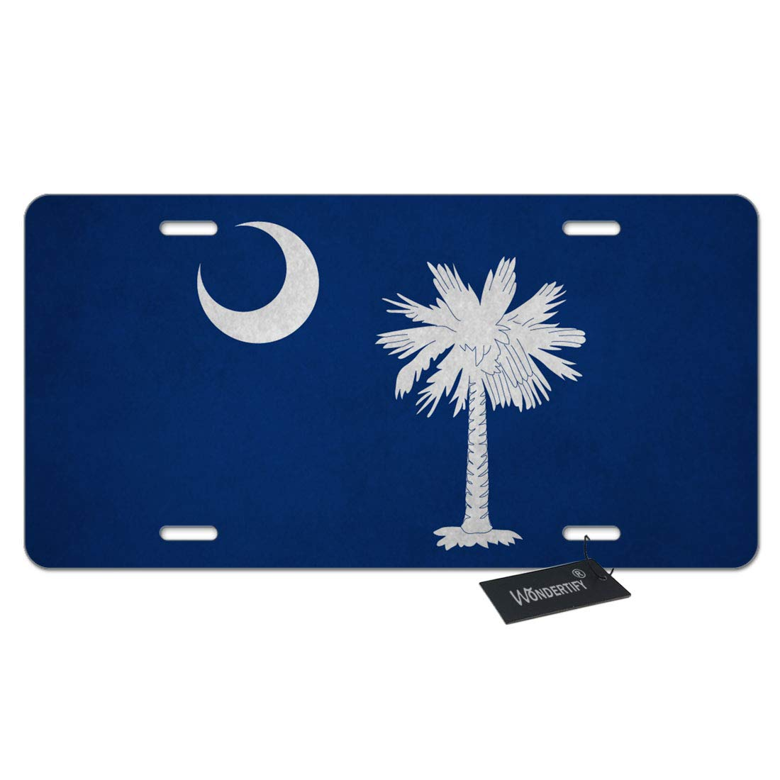 4 Holes WONDERTIFY License Plate Us Navy United States Navy Dark Blue Pattern Decorative Car Front License Plate,Vanity Tag,Metal Car Plate,Aluminum Novelty License Plate 6 X 12 Inch