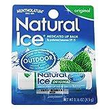 Natural ice Original Flavor SPF 15 Medicated Lip Protectant/Sunscreen (3 sticks)